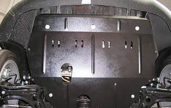 Защита картера (двигателя) и Коробки передач на Пежо 407 (Peugeot 407) 2004-2010 г (металлическая/сверху пыльника)