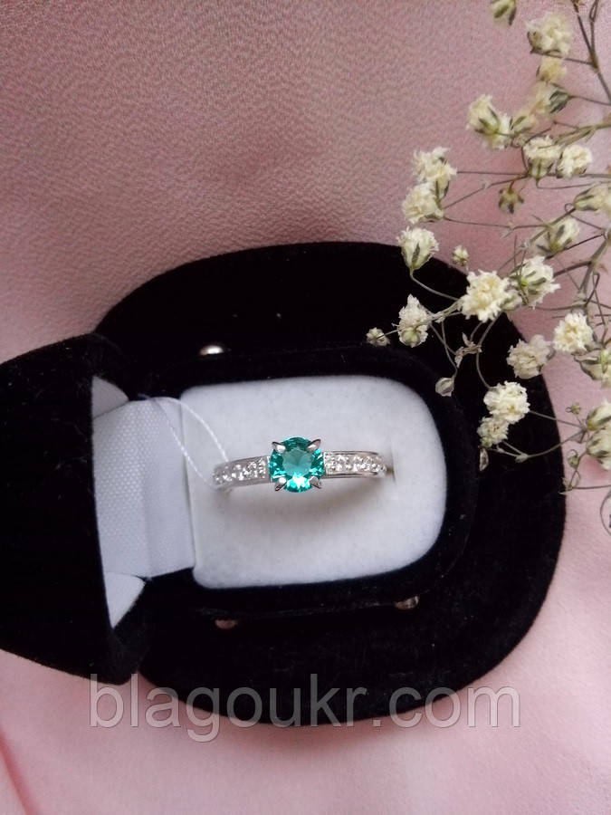 Серебряное кольцо Тристар с камнями
