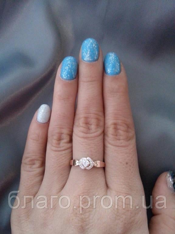 Кольцо серебро с золотом Клио