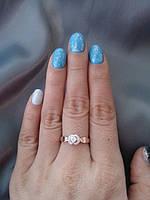 Кольцо серебро с золотом Клио, фото 1