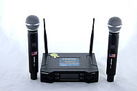 Мікрофон бездротової Shure DM UK 90 динамічний, з базою, в наборі 2шт, 1/4 джек, 80db, радіус до 60 м, від батарейок АА