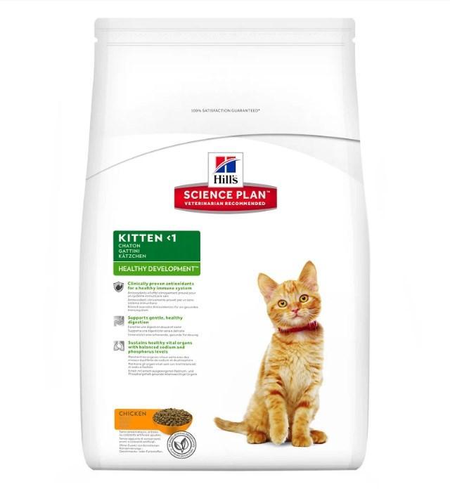 Hill's Science Kitten Plan Healthy Development корм для котят с курицей 5 кг