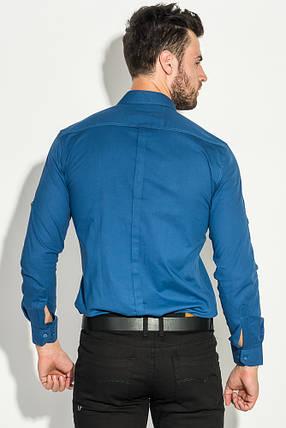 Рубашка мужская классическая 482F001 (Синий), фото 2