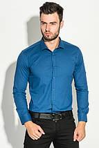 Рубашка мужская классическая 482F001 (Синий), фото 3