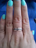 Кольцо СПАСИ и СОХРАНИ1 серебро с золотом, фото 1