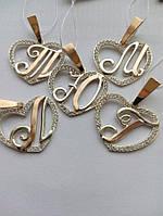 Серебряные подвесы буква, фото 1