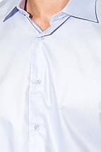 Рубашка мужская длинный рукав 50P3148-8 (Светло-сиреневый), фото 3