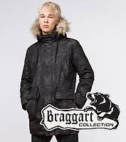 Зимняя куртка молодежная Braggart Youth - 25500 черная