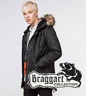 Зимняя молодежная куртка Braggart Youth - 25620 черная