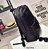 Рюкзак мужской кожаный городской Classik черный, фото 3