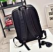 Рюкзак мужской кожаный городской Classik черный, фото 4