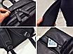 Рюкзак мужской кожаный городской Classik черный, фото 6