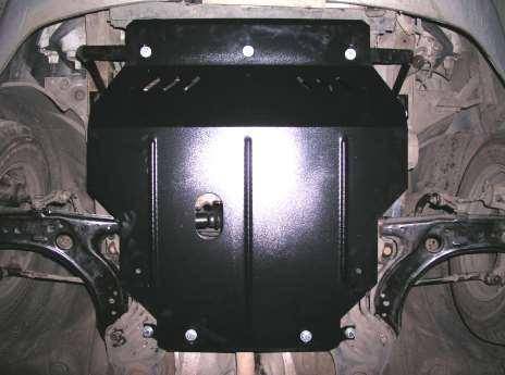 Защита радиатора, двигателя и КПП на Рено Трафик 2 (Renault Trafic II) 2001-2014 г (металлическая/2.5)