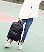 Рюкзак мужской кожаный городской Classik черный, фото 2