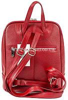 Распродажа! Женский кожаный рюкзак Karya 0782-46 красный, фото 4