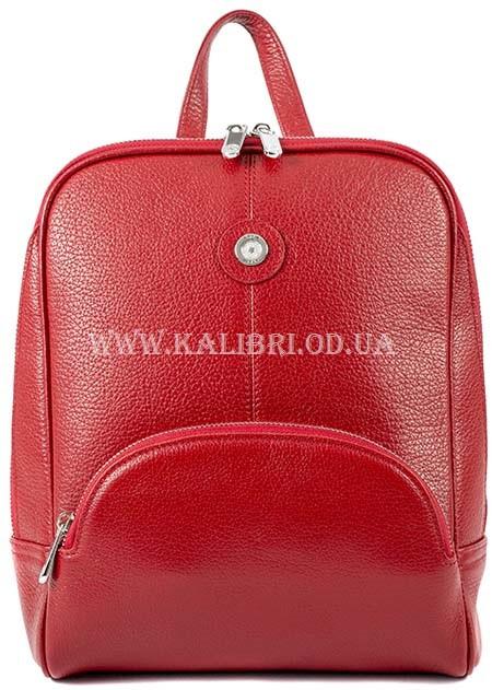 2db52c763f8a Женский кожаный рюкзак Karya 0782-46 красный - Kalibri Odessa в Одессе