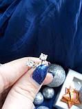 Серебряные серьги гвоздики Идилия, фото 2
