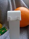 Серебряные серьги гвоздики Идилия, фото 3