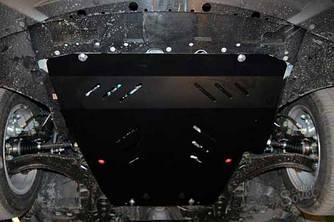 Защита картера (двигателя) и Коробки передач на Шкода Румстер (Skoda Roomster) 2006-2015 г (металлическая/1.4)