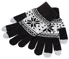Рукавички для сенсорних екранів Touch Gloves Криву black-white (чорно-білі)