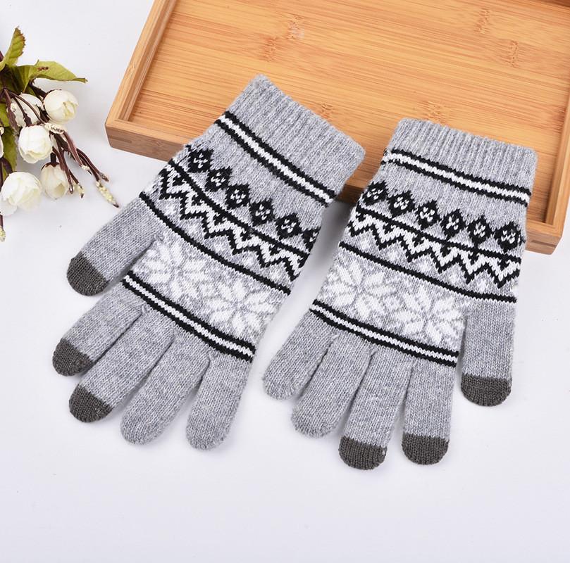 Перчатки для сенсорных экранов Touch Gloves SnowStars gray