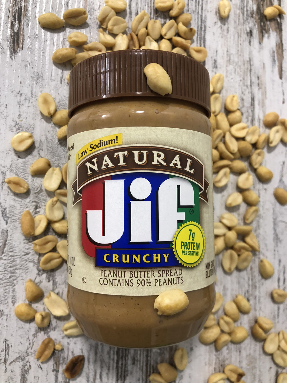 Арахисовое масло JIF с кусочками орешков, 454грамм