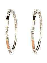 Срібні сережки кільцями кола 1 діаметр 3,5 см