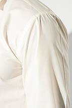Рубашка мужская с контрастными запонками 50PD0060 (Молочный), фото 3