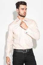 Рубашка мужская с контрастными запонками 50PD0060 (Бледно-розовый), фото 2