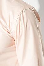 Рубашка мужская с контрастными запонками 50PD0060 (Бледно-розовый), фото 3