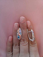 Женские серебряные серьги Анабель, фото 1