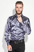 Рубашка мужская шелковая 50PD0091 (Пепельно-серый), фото 3