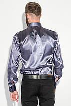 Рубашка мужская шелковая 50PD0091 (Пепельно-серый), фото 2
