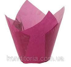 Малиновые бумажные формы для маффинов, кексов