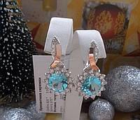 """Красивые серебряные серьги Хризантема""""Эл"""", фото 1"""