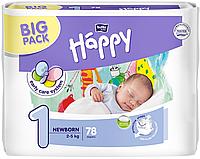Подгузники Bella Baby HAPPY NEWBORN (1) 2-5 кг, 78 шт