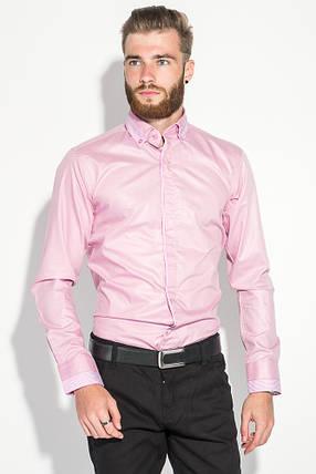 Рубашка мужская стильный манжет 50PD3295 (Розовый), фото 2