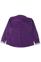 Рубашка мужская батал 50PD3355 (Темно-фиолетовый), фото 3