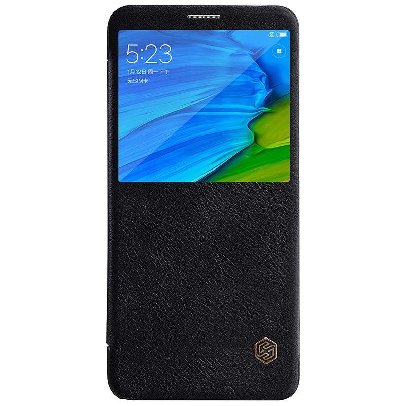 Nillkin Xiaomi Redmi Note 5/ Note 5 Pro Qin leather Black case Кожаный Чехол Книжка