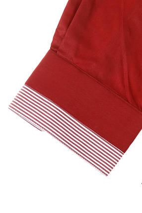 Рубашка мужская батал 50PD3355 (Бордовый), фото 2