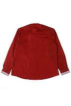 Рубашка мужская батал 50PD3355 (Бордовый), фото 3