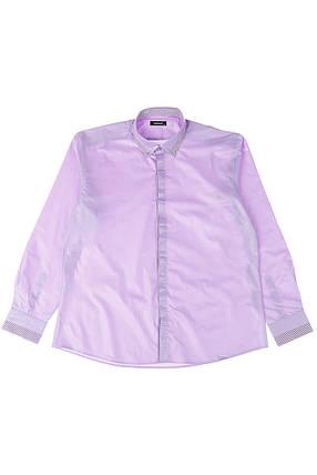 Рубашка мужская батал 50PD3355 (Сиреневый), фото 2