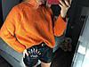 Обьемный свитер крупной вязки 50% шерсть.Длина 60см.  Размер: 42-46.(5221), фото 2