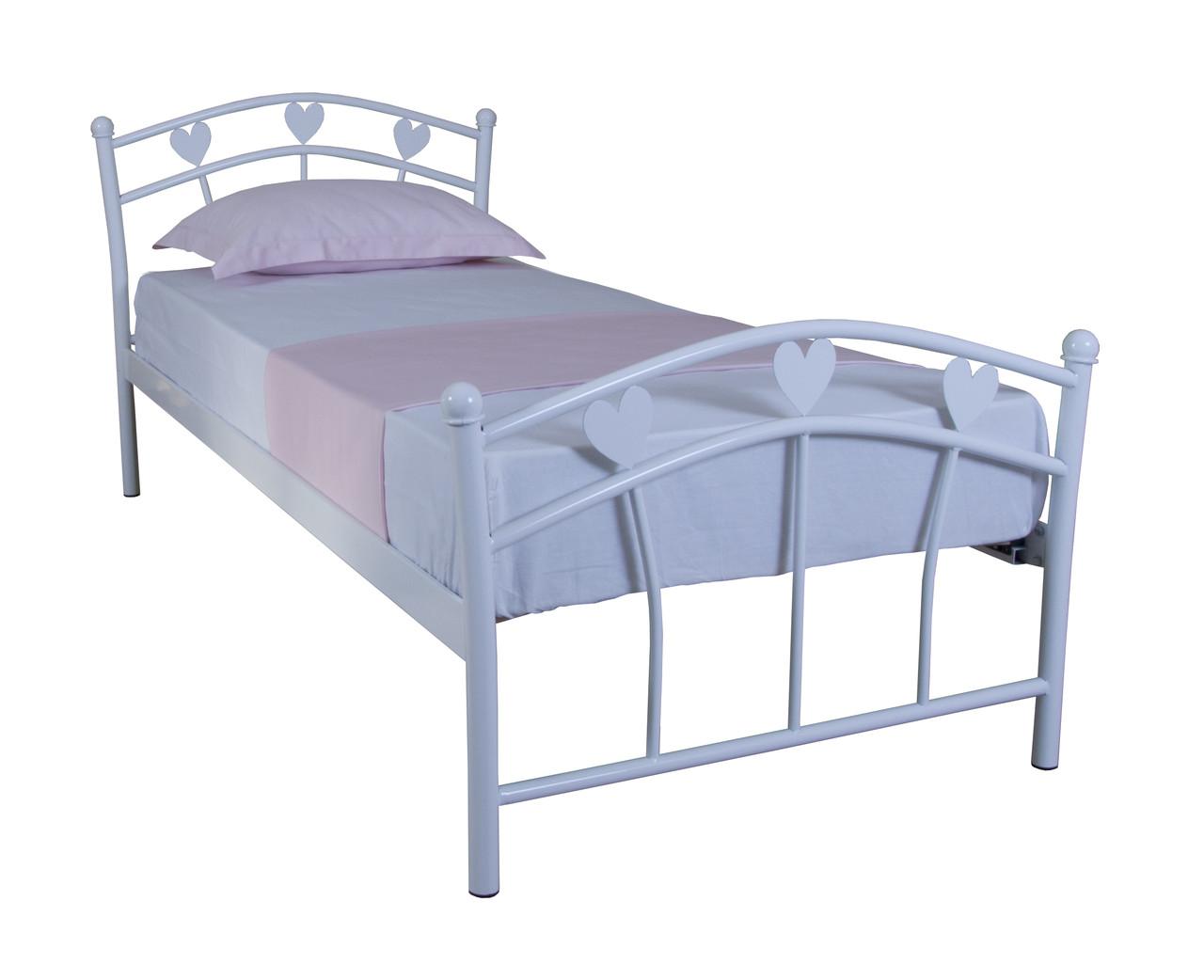 Дитяче односпальне ліжко MARLENA 900х2000 white
