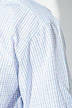 Рубашка мужская светлая клетка 50PD0034 (Бело-голубой), фото 3