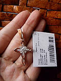 Серебряный крест з золотыми пластинами, фото 3