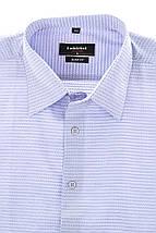 Рубашка мужская принтованная, с запонками 50PD37162-3 (Сиреневый), фото 2