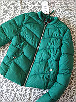 Женская куртка Bershka, изумруд, в наличии  XS S M, фото 1
