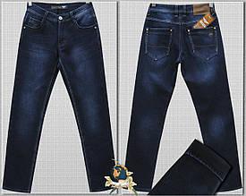Джинсы мужские зимние классические Fangsida синего цвета 38 размер