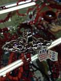 Кольцо с натуральным рубином, аметистом и гранатом размер 19,5, фото 3
